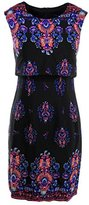 Nanette Lepore Women's Jodhpur Border Print Popover Sheath Dress