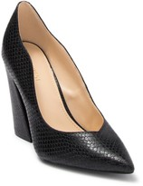Nine West Havana Embossed Snakeskin Pump