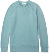 Velva Sheen - Slim-fit Washed Fleece-back Cotton-blend Jersey Sweatshirt