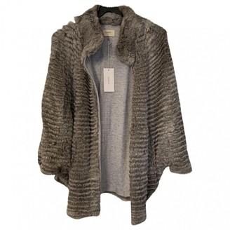 BA&SH Fall Winter 2018 Grey Rabbit Coat for Women