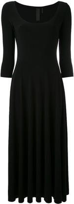 Norma Kamali Scoop Neck Midi Dress