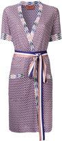 Missoni zig-zag shortsleeved belted cardigan - women - Cotton/Viscose - 46