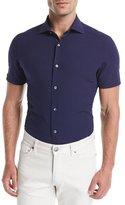 Ermenegildo Zegna Seersucker Short-Sleeve Shirt