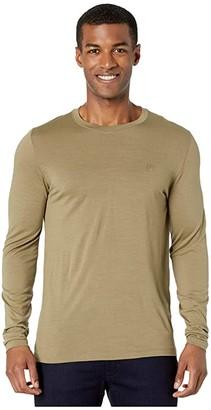 Fjallraven Abisko Wool Long Sleeve (Light Olive) Men's Clothing