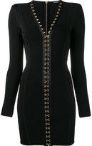 Balmain fitted hook fasten dress