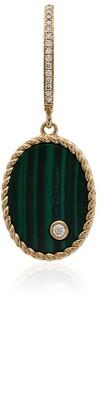 Yvonne Léon 18K yellow gold, malachite and diamond drop singular earring