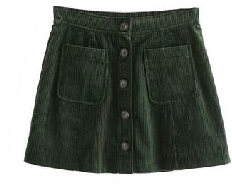 Goodnight Macaroon 'Jay' Corduroy Mini Skirt (3 Colors)
