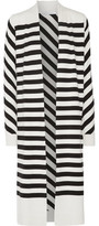 Diane von Furstenberg Carlisle Striped Silk-Blend Cardigan