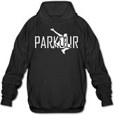 PHOEB Mens Sportswear Drawstring Hooded Sweatshirt,Parkour Art Sports