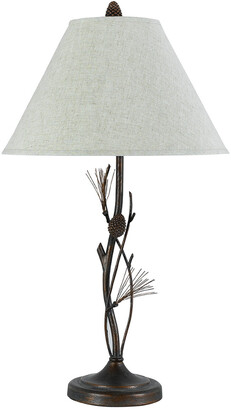 Cal Lighting Calighting 3-Way Pine Twig Iron Table Lamp