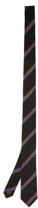 Paul Smith Striped Silk-twill Tie - Black