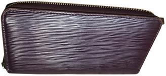Louis Vuitton Zippy Purple Cloth Wallets