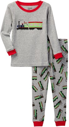 Leveret Train Pajama Set (Toddler, Little Boys, & Big Boys)