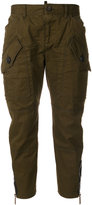 DSQUARED2 cropped cargo trousers - women - Cotton/Polyamide - 36