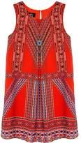 IZ Amy Byer Girls 7-16 IZ Amy Byer Geometric Dress with Necklace