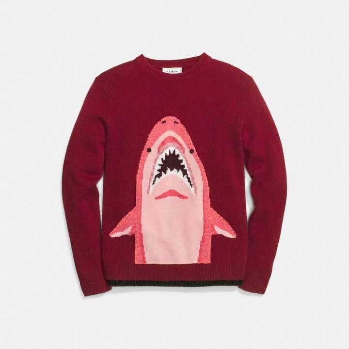 Coach Sharky Intarsia Sweater
