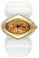 Alviero Martini Prima Classe Women's PCD 848/1VB Gold PVD Geo-Design White Patent Watch