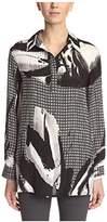 Natori Women's V Neck Printed Tunic