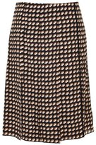 Marc Jacobs Printed Front-Pleat Skirt Black Multi