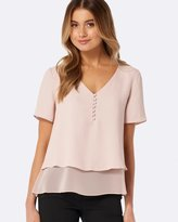 Forever New Aria Button Essential Top