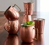 Pottery Barn Hammered Copper Tumbler, Set of 2