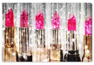"Oliver Gal Lipstick Collection Canvas Art - 30"" x 45"" x 1.5"""