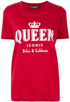 Dolce & Gabbana Iconic Queen print T-shirt