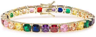 Cz By Kenneth Jay Lane Gold-tone Crystal Bracelet