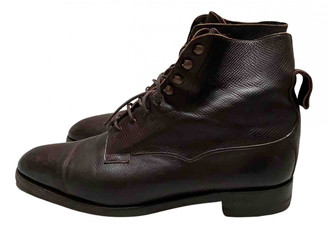 Edward Green Brown Leather Boots