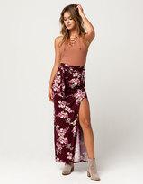 IVY & MAIN Floral Slit Maxi Skirt