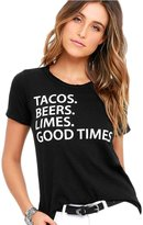 Chaser Tacos Beers Limes Good Times Tee Shirt (L)