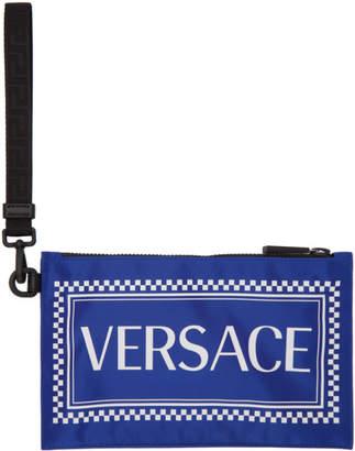 Versace Blue 90s Vintage Pouch