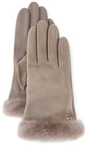 UGG Classic Suede Smart Gloves, Gray