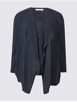 Classic Lace Front 3/4 Sleeve Cardigan