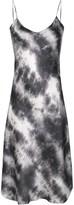 Nili Lotan Slim Fit Tie-Dye Print Silk Dress