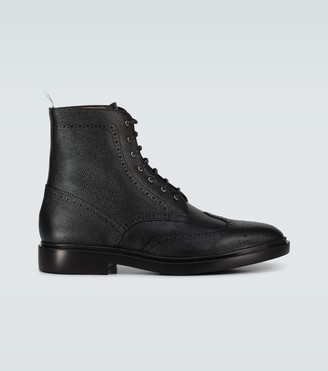 Thom Browne Leather wingtip ankle boots