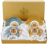 Royal Collection Trust Lustre Coffee Cups & Saucers (Set of 2)