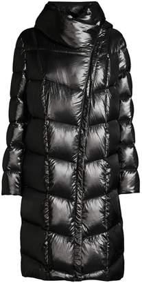 Donna Karan Funnel-Neck Down Coat
