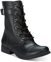 Lace Up No Zipper Combat Boots - ShopStyle