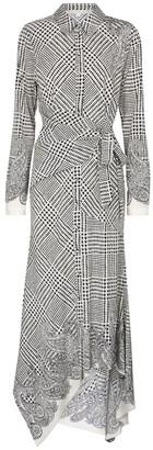 Veronica Beard Ondine checked stretch-silk midi dress