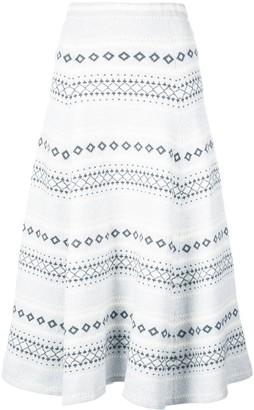 Adam Lippes Intarsia Knit Skirt
