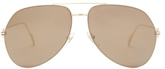 Cartier Premiere De Aviator Metal Sunglasses - Gold