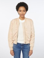 Frame Shirred Bomber