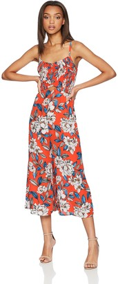 Ali & Jay Women's Smocked Cut Out Cropped Wide Leg Sleeveless Jumpsuit