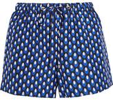 Diane von Furstenberg Liri Printed Silk-twill Shorts - Navy