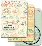 Cavallini & Co. Papers 4 by 5.5-Inch Notebooks, Mini, Bicycles, Set of 3
