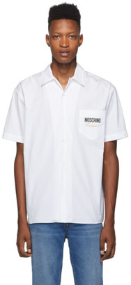 Moschino White Logo Couture Shirt