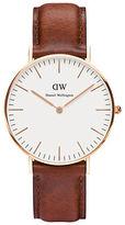Daniel Wellington St. Andrews Leather Strap Watch