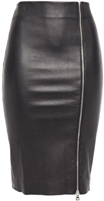 Sprwmn Zip-detailed Stretch-leather Pencil Skirt