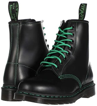 Dr. Martens 1460 Contrast Stitch (Green Stitching) (Black) Shoes